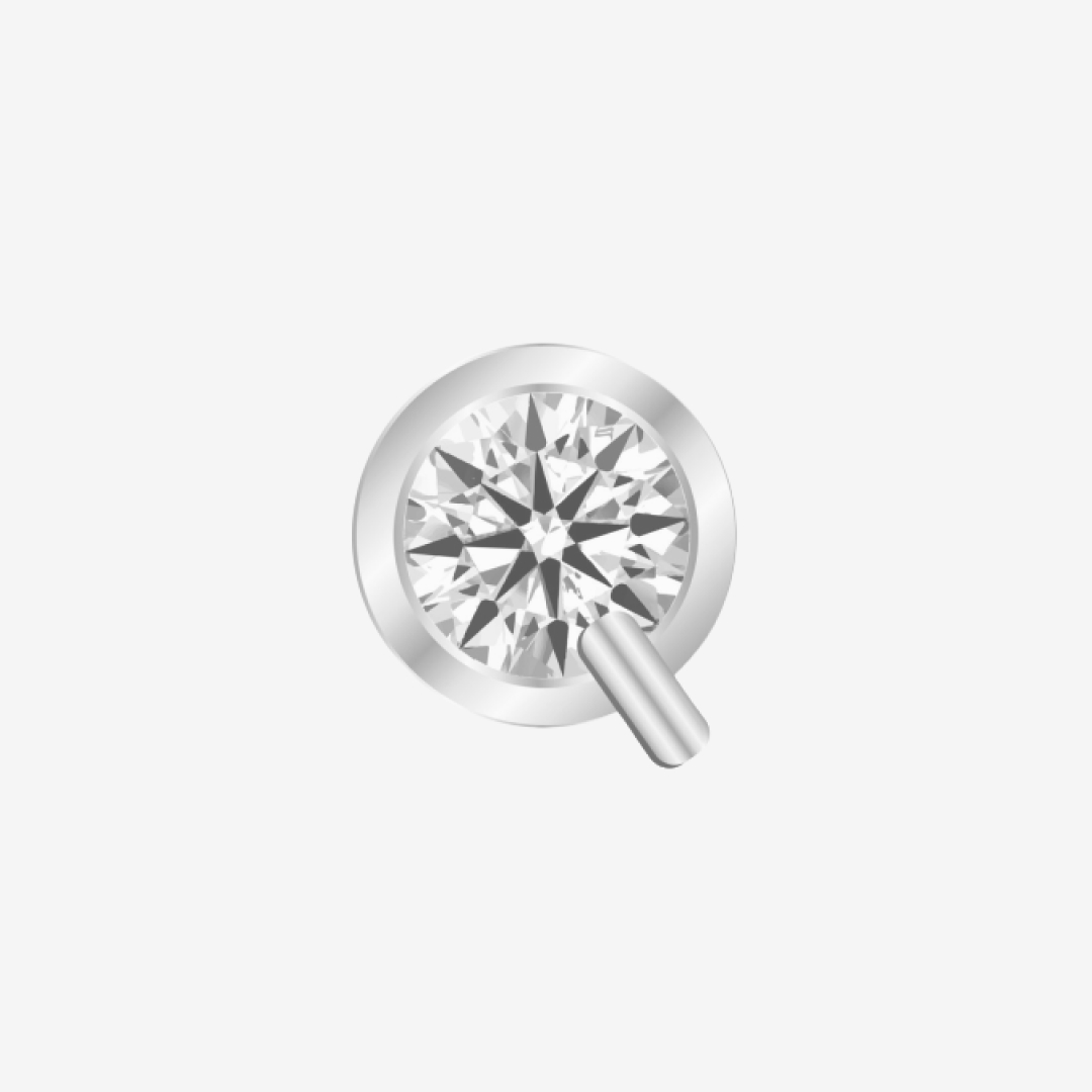 S7500 Solitaire Collection in 18K White Gold