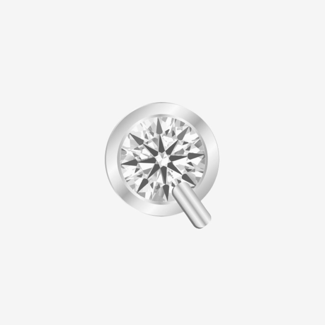 1.51 Carat Round Diamond  F Color VVS2 Clarity Excellent Cut